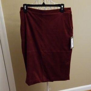 🌹Burgundy velvet suede feel skirt